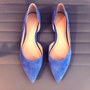Marc Fisher LTD Blue Suade Flats (Size 11)